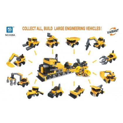 Egg Capsule Building Block - City Engineer - Carrier Vehicle