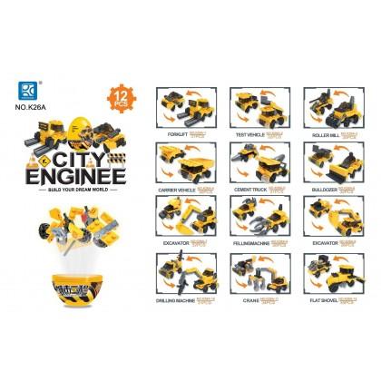 Egg Capsule Building Block - City Engineer - Drilling Machine