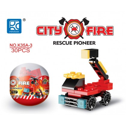 Egg Capsule Building Block - City Fire - Rescue Pioneer 3