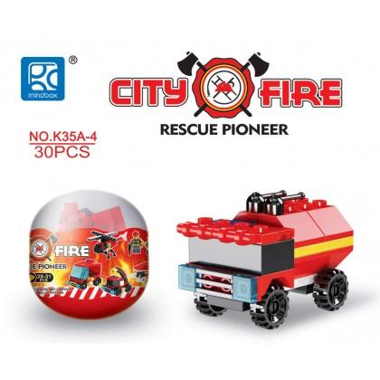 Egg Capsule Building Block - City Fire - Rescue Pioneer 4