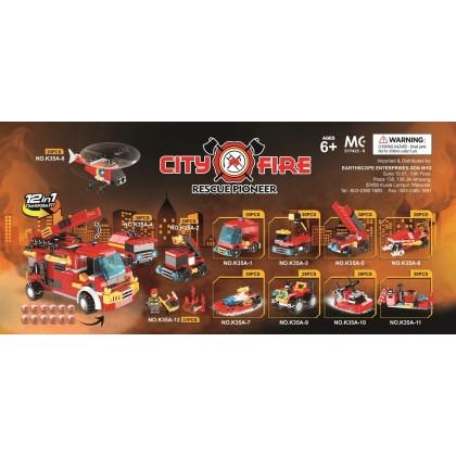 Egg Capsule Building Block - City Fire - Rescue Pioneer 7