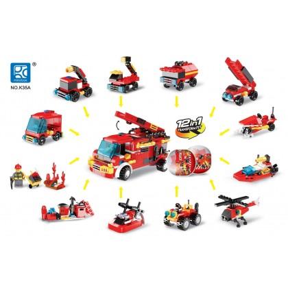 Egg Capsule Building Block - City Fire - Rescue Pioneer 12