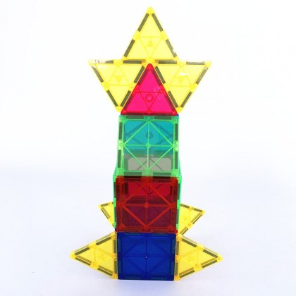 WonderMags 20 - 3D Magnetic Tiles Building Block STEM Toy - Box of 20 Tiles
